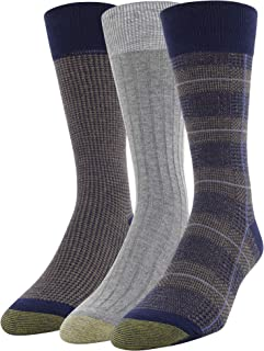 Men's Glen Plaid and Houndstooth Crew Socks, 3 Pairs
