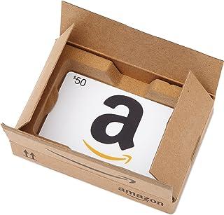 Amazon.com $50 Gift Card in a Mini Amazon Shipping Box (Classic White Card Design)