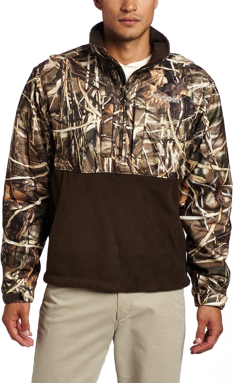 Houston Mall Columbia Men's Point Max 67% OFF Blind Shirt Zip Half