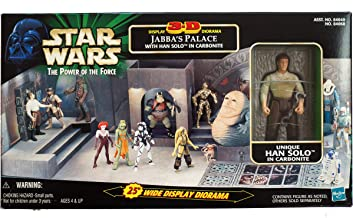 Star Wars: Power of The Force > Jabbas Palace 3-D Display Diorama with Han Solo & Carbonite Block