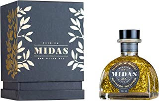 Premium Australian Extra Virgin Olive Oil infused with 24Karat Pure Gold by Midas24K - New 2019 Harvest, Award Winning - For Cooking, Food Finishing, Hair & Skin moisturizing - Perfect Gift