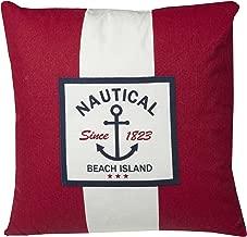 Urban Loft by Westex Nautical Stripe Red Sofa Cushion Decorative Throw Pillow cover, 20 x 20
