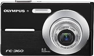 Olympus FE360 8MP Digital Camera with 3x Optical Dual Zoom (Black)