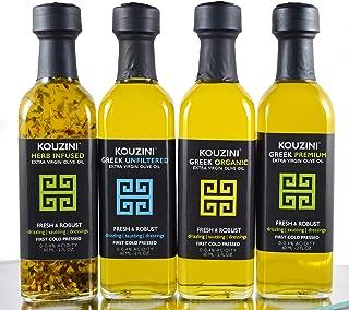 Kouzini Combo Pack - Greek Extra Virgin Olive Oil (4pack-60ml Mini Bottles)
