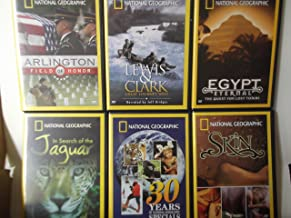 National Geographic 6 Dvd Set, Egypt Eternal: The Quest for Lost Tombs, Lewis and Clark: Great Journey West, 30 Years of National Geographic Specials, Arlington: Field of Honor, Skin, and in Search of the Jaguar
