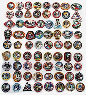 Lot of 64 NASA STS Space Shuttle Mission Astronaut Crew Patches
