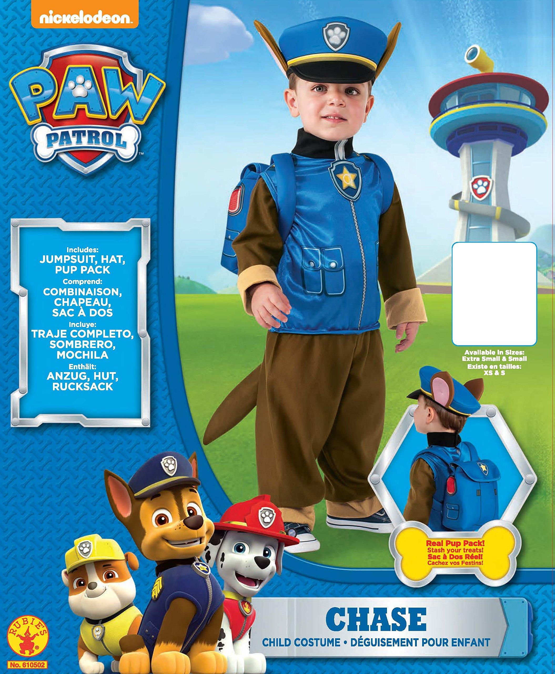 Patrulla Canina - Disfraz de Chase, talla 3-4 años (Rubies 610502 ...
