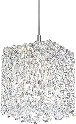 Stainless Steel Schonbek RE0405AZU Swarovski Lighting Refrax Pendant Light
