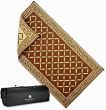 Reversi Mats (9' x 18') Large RV Patio Mat and Rug for Outdoors, Backyard, Trailer, Picnics & Camping - Heavy Duty, Weather Resistant, Thick Reversible Rugs - Comes with Storage Bag - Brown/Beige