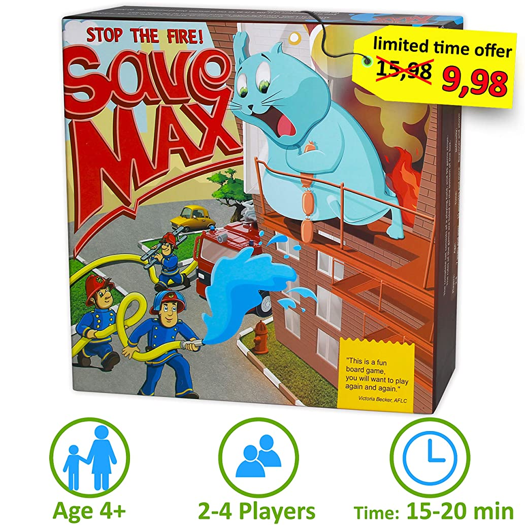 Save the Max Board Game for Kids Age 4 and Up - Cooperative Tile Laying Games for Children and Family Fun