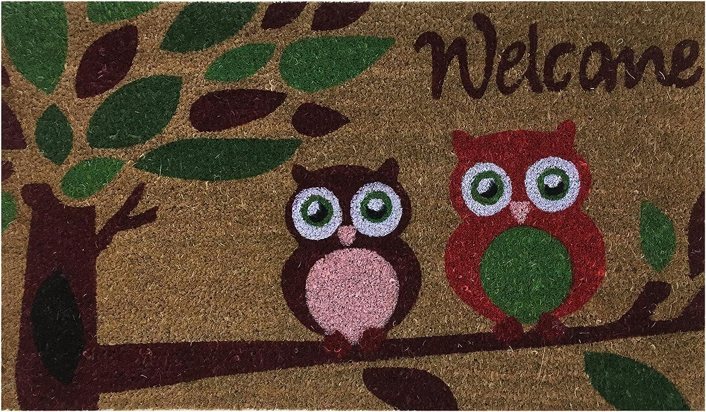 Amazon Com Welcome Coir Doormat By Castle Mats Size 18 X 30 Inches Non Slip Durable Made Using Odor Free Natural Fibers Garden Outdoor