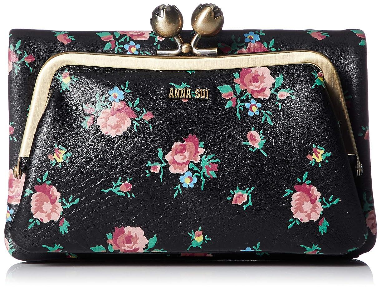 ハンカチアイデア極めて重要な[アナ スイ] 折り財布 外口金二つ折り財布 リトルローズ 314300