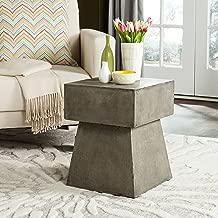 Safavieh Outdoor Collection Zen Mushroom Modern Dark Grey Concrete 18.1-inch Accent Table