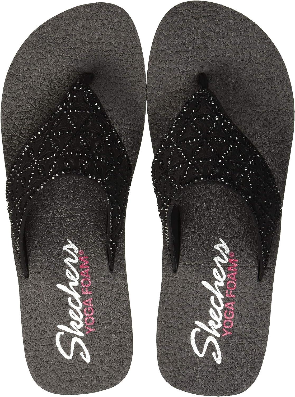 Skechers Womens Vinyasa - Glass Star - Laser Cut Rhinestone Flip Flop Flip-Flop