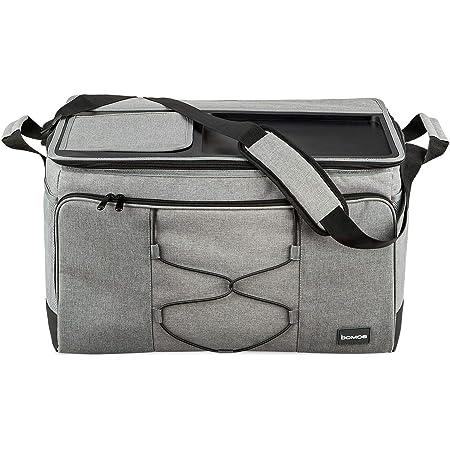 bomoe XXL Kühltasche faltbar - Große Outdoor Kühlbox - 52 Liter Einkaufskorb Tasche mit Kühlfunktion und Abstellfläche - Thermotasche 16h Kühlfunktion für unterwegs - IceBreezer KT53