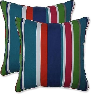 Set of 2 Pillow Perfect Outdoor//Indoor Reiser Lagoon Throw Pillow 18.5