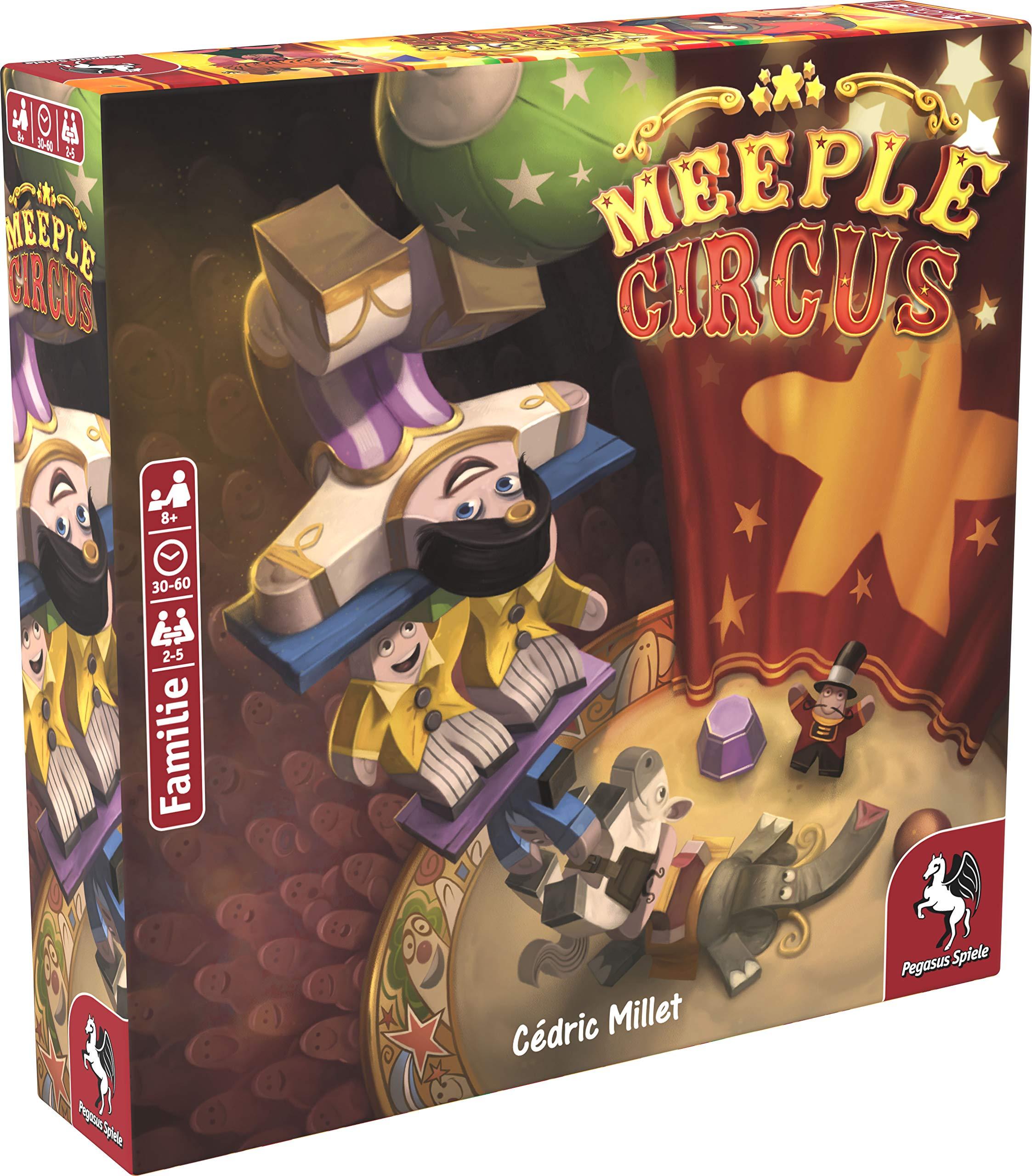 Pegasus Spiele Meeple Circus Party Board Game Niños y Adultos - Juego de Tablero (Party Board Game, Niños y Adultos, 30 min, 60 min, Niño/niña, 8 año(s)): Amazon.es: Juguetes y juegos