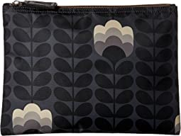 Orla Kiely - Buttercup Stem Printed Large Zip Pouch