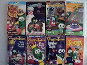 Veggie Tales Kids and Children 7 Pack VHS Movies: Little Joe, Toy That Saved Christmas, Lyle the Kindly Viking, Madame Blueberry, King George and the Ducky, Larry Boy and the Rumor Weed, Jonah Sing Along Songs and More