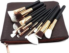 Maquillali 15 Piezas de Brochas con Bolsa Cosmética para