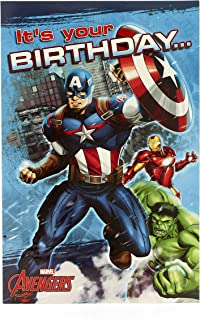 Marvel Avengers Captain America Birthday Card Pop Out - Look I Pop Up!