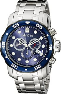Men's 80057 Pro Diver Stainless Steel Watch with Blue Dial
