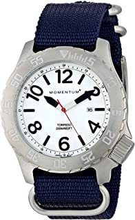 Men's Sports Watch | Torpedo Dive Watch by Momentum | Stainless Steel Watches for Men | Analog Watch with Japanese Movement | Water Resistant (200M/660FT) Classic Watch - Lume / 1M-DV74L7U