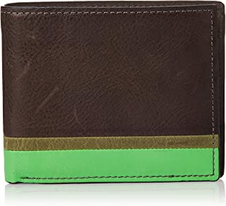 Leon Large Coin Pocket Bifold Wallet Black - ML4209363