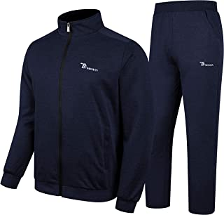 Men's Fleece Tracksuits 2 Pieces Jacket & Pants Jogging Suits Sweatsuit Sportswear