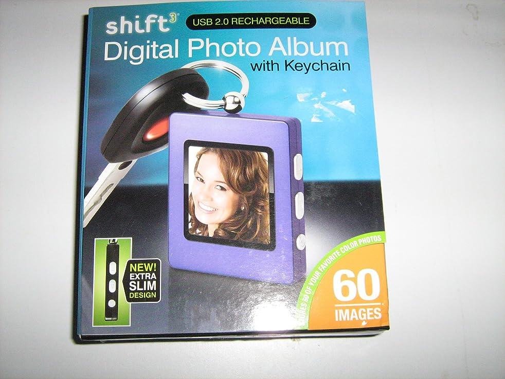 Shift3 Digital Photo Album with Keychain-Purple