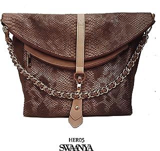 Vegan leather handbag (Exotic Beige texture mixed)