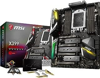 MSI Gaming AMD Ryzen ThreadRipper DDR4 VR Ready HDMI USB 3 SLI CFX Extended-ATX Motherboard (X399 Gaming PRO Carbon AC)