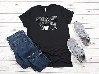Chewie We're Home Shirt, Star Wars Collage Shirt, Star Wars Shirt, Disney Shirt, Mens Disney Shirt, Chewie Shirt, Disney Vacation Shirt,