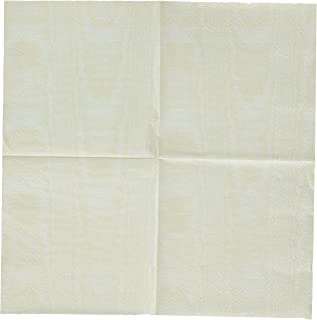 Entertaining with Caspari Moire Cocktail Napkins (20 Pack), Ivory