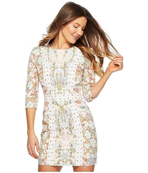 multicolor vestido Balmain floral tachonado Pierre vqIw87BW