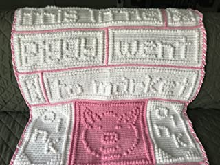"Crochet Extra Large Baby Blanket""This Little Piggy"""