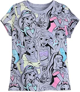 Princess Allover Print T-Shirt for Kids Size S (5/6) Multi