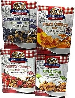 Calhoun Bend Mill Variety of Four Mixes Blueberry Crumble, Peach Cobbler, Cherry Crunch, and Apple Crisp