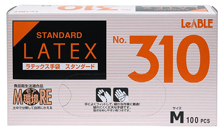 病な配偶者漫画大和工場 ラテックスゴム手袋 NO.310 Mサイズ 100枚