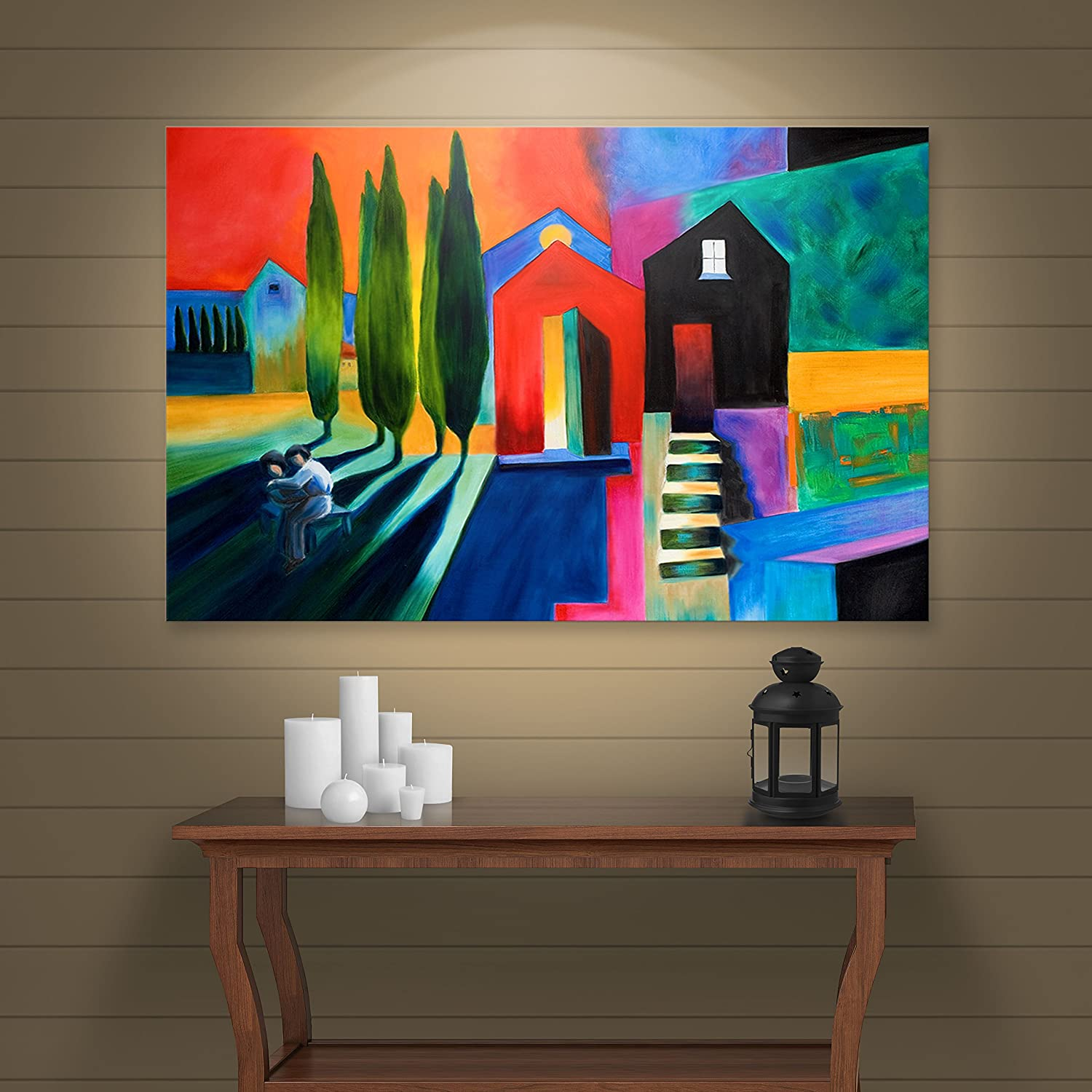 Art Wall 'Trying to Talk Her Into It' by Susi Franco Gallery Wrapped Canvas Artwork, 18 by 24-Inch