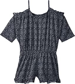 Ella Moss Girl Slit Shoulder Chiffon Romper (Big Kids)