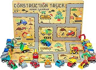 KreativeKraft Adventskalender 2021 kinderen, speelgoed bouwplaatsen vrachtwagen, adventskalender kinderen met 24 verrassingen