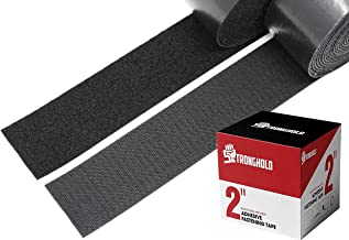 2 Inch STRONGHOLD - Hook and Loop Strip - Adhesive Backing - Fastener Tape - 5 Yard Set