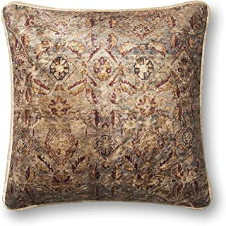 Loloi P0581 Pillow Cover with Poly Fill, 18 x 18, Multi