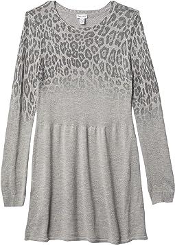 Ombre Leopard Sweaterdress (Big Kids)
