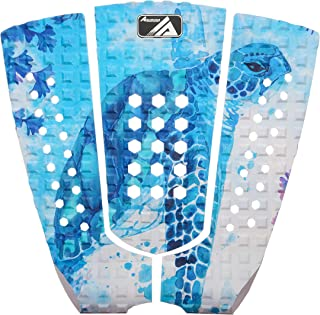 3 Piece Stomp Pad Surfboard EVA Traction Pad with 3M Adhesive Professional Tail Pad/Applies All Boards - Surfboards, Short...