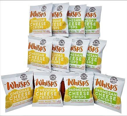 Whisps Cheese Crisps 12 pack assortment (0.63oz) Cheddar & Parmesan