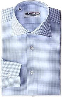 (フェアファクス) FAIRFAX サックスミニチェックワイドカラーシャツ 7507 13 サックス 38