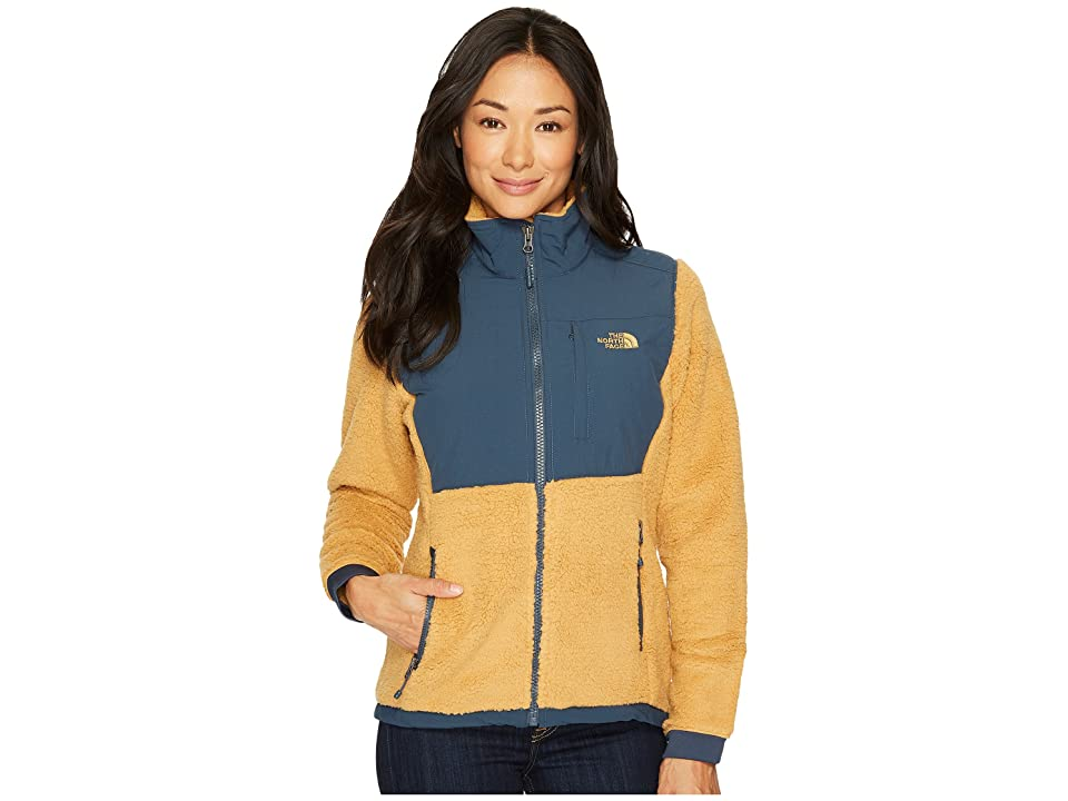 The North Face Sherpa Denali Jacket (Biscuit Tan/Ink Blue) Women