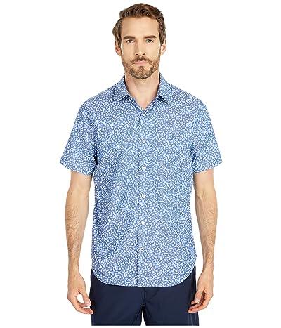 Nautica Wrinkle Resistant Floral Print Shirt (Blue) Men